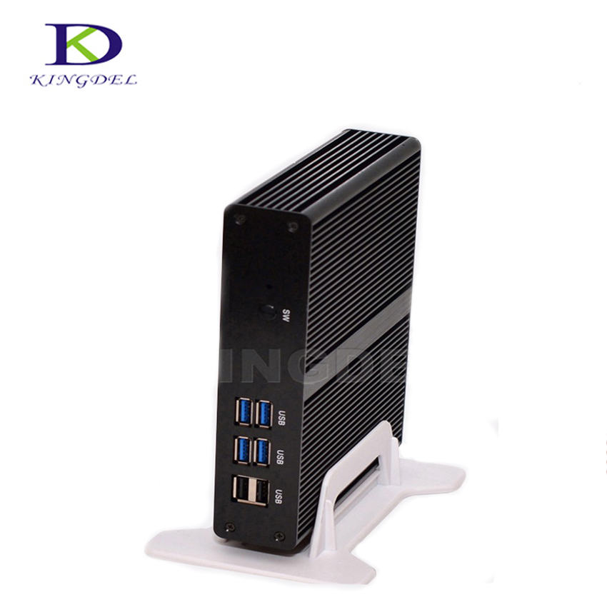 Kingdel Fansız Plam Bilgisayar Celeron J1900 Quad Core Max 2.42 GHz Wifi HDMI VGA ile 2 * COM USB3.0 Intel HD Grafik Mini PC