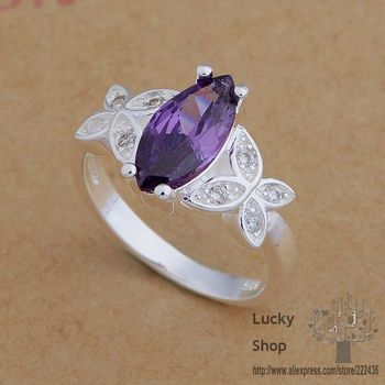 AR668 925 sterling silver ring, 925 silver fashion jewelry, elegant/purple stone /chrakyya gfjaowqa