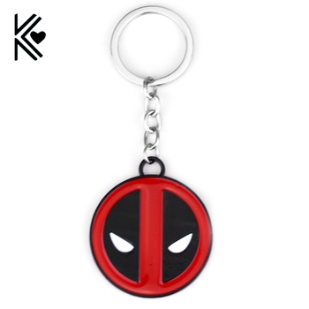 Drop Shipping MARVEL Comics Superman X-men Deadpool Logo Marvel Comics Alaşım Anahtarlık Metal anahtarlık Film Takı