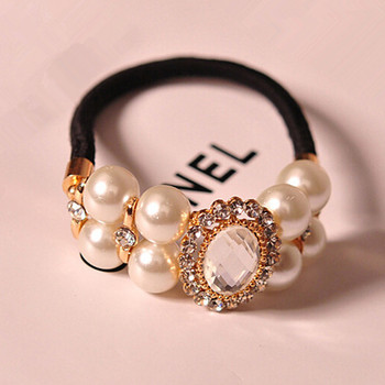 New Elastic Hair band Korea Style Hair Accessories Pearls Rhinestone Hairbands for Women