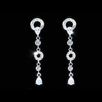 Peacock star dangle cz kübik zirkonya taş küpe cse288